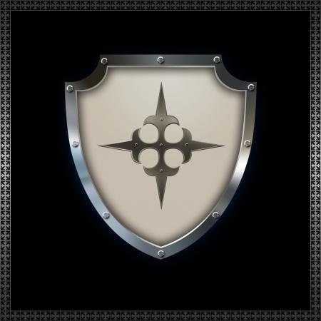 Decorative heraldic shield for the design  photo