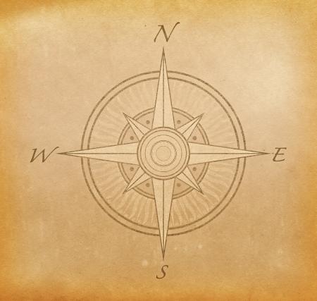 kompassrose: Grunge Papier Hintergrund mit Bild von Kompassrose