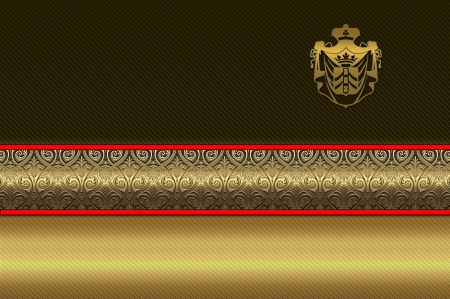 Decorative golden background for the design of business card  photo
