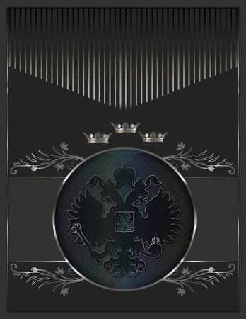 coverbook: Sfondo decorativo con elementi araldici per la progettazione del testo Archivio Fotografico