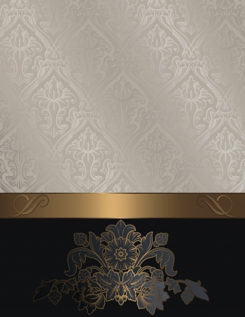 old fashioned menu: Decorative floral background for the design