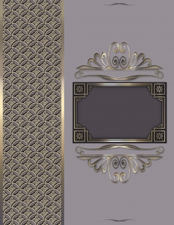 Decorative vintage background with frame  photo