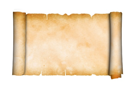 Scroll of antique parchment  photo