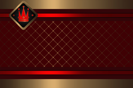 Decorative gold background for the design of your credit card. photo