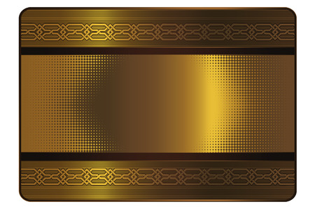 comercial: Template for the design of gold credit card.