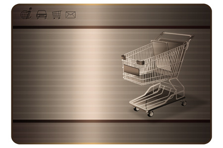 Shopping card template.Abstract background for the design of businees card.