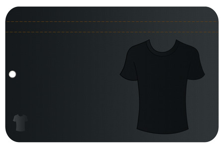 Shopping card or jeans label template.