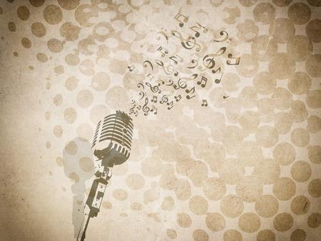 background: Grunge background with music image.