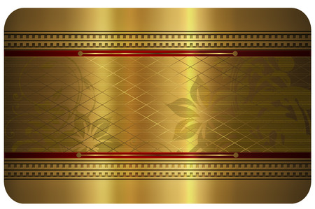 Template for the design of your business card. Gold style. photo