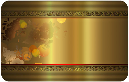 Gold business or gift card template. photo