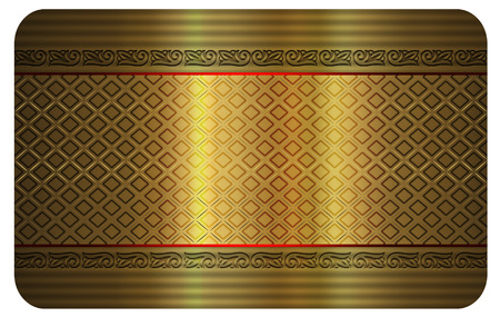 Business card template. Gold background for design of your business card. photo