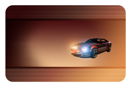 sportcar: Abstract background with sportcar for the design of your business card.