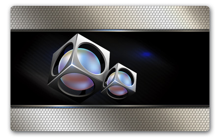 Business card template. Abstract background for the design. photo