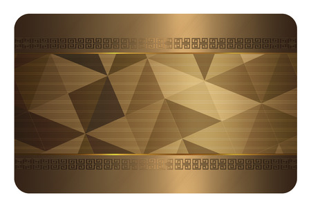 Gold business card template. Gold background with geometric patterns for the design of your business card. photo