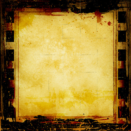 Abstract grunge background with photoframe and abstract spots. Stock Photo