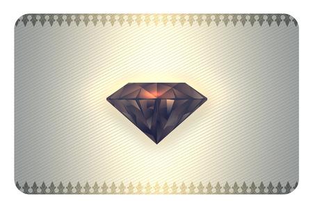 diamante negro: Fondo abstracto con el diamante negro para el dise�o de su tarjeta de visita.