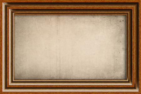 Old wooden frame with old linen canvas.