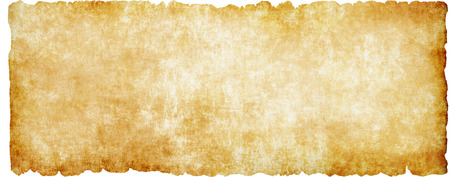 Medieval parchment on a white background