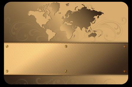 Gold metal achtergrond voor het ontwerp van uw visitekaartje.