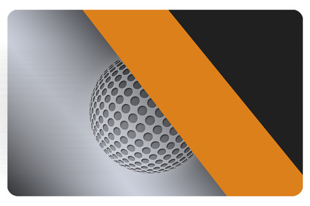 Template of business card with abstract sphere. International standard.