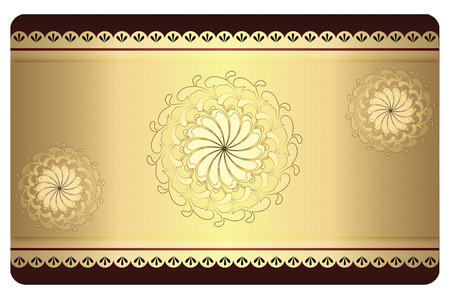 Decorative vintage background for the design of business or gift cards. photo