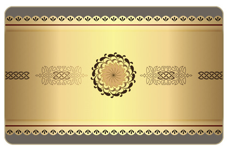 Decorative vintage background with celtic patterns for the design of business or gift cards. photo