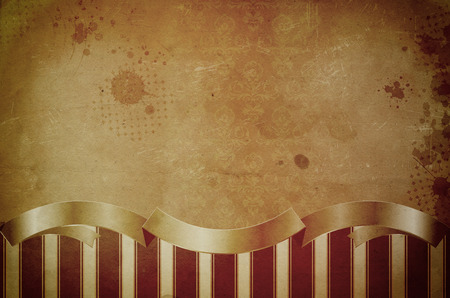 oldfashioned: Old grunge paper background with old-fashioned patterns and other decorative elements. Stock Photo