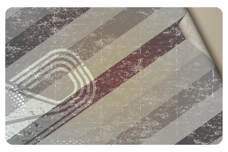 halftones: Template of your business card with abstract grunge lines and halftones. Stock Photo