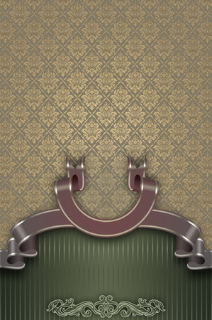 Decorative background with old-fashioned ornament. photo