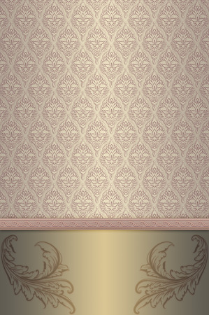 Decorative background with vintage patterns for the design. Vintage invitation template. photo