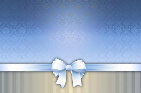 mo�o blanco: Fondo decorativo con el arco blanco y adornos de �poca. Plantilla de tarjeta de invitaci�n. Foto de archivo