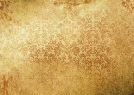 papier naturel: Grunge floral fond de papier. Natural texture du papier.