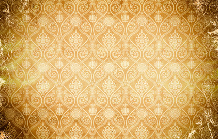oldfashioned: Grunge paper background with old-fashioned ornament.