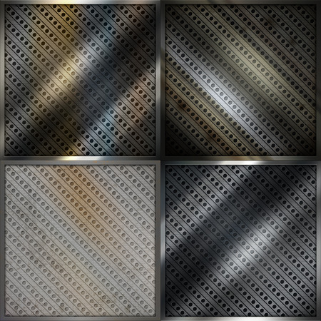 metal mesh: Spotty and rusty metal mesh backgrounds for the design.