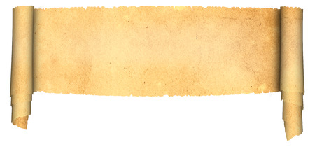 antique scroll: Antique scroll of parchment on white background. Natural old paper texture.
