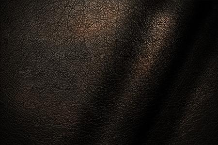 Natuurlijke textuur van donker leer voor het ontwerp. Stockfoto