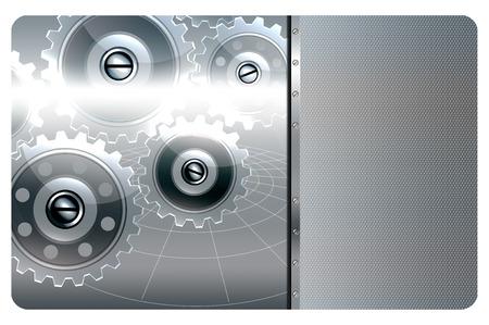 malla metalica: Fondo abstracto del metal con engranajes y malla met�lica.
