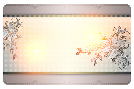 Floral background with decorative border for the design. Stock Photo