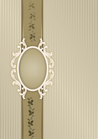 Vintage background with old-fashioned patterns and decorative frame for the design.