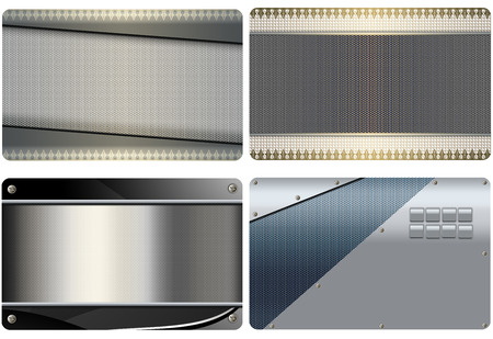 metal mesh: Abstract metal background with metal mesh for the design of business cards.