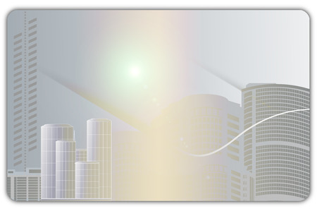 civic: Abstract city building background for the design of business card.