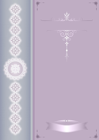 coverbook: Vintage background with decorative patterns for the design. Cover-book or greeting card template.
