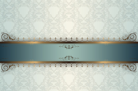 coverbook: Decorative vintage background with old-fashioned patterns and ornament. Stock Photo