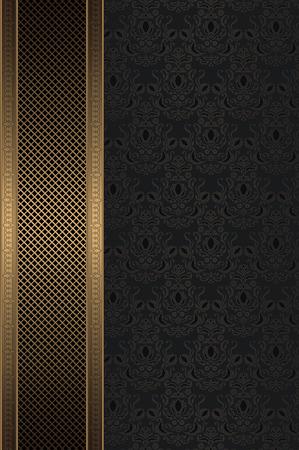 coverbook: Vintage sfondo con ornamento decorativo e maglia d'oro.