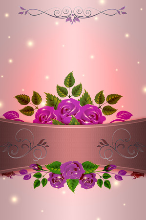 your text: Decorative background with roses and space for your text.