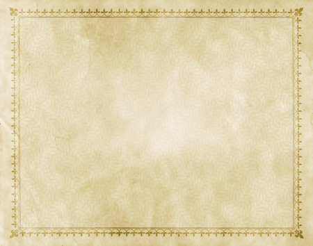 vintage paper texture: Old grunge paper background with old-fashioned border and patterns.
