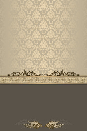 old fashioned: Vintage background with decorative ornament and old fashioned patterns.