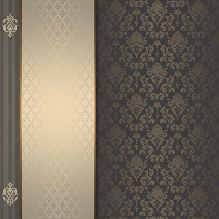 ornamental background: Vintage invitation card design. Old-fashioned ornamental background. Stock Photo