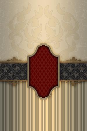 Vintage background with decorative patterns,elegant frame and decorative ornamental border.