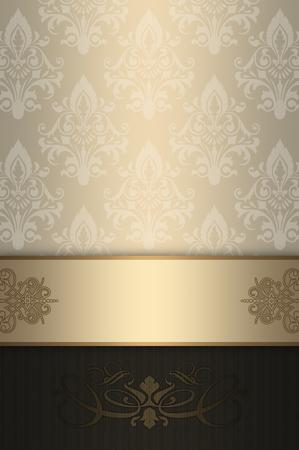 decorative background: Decorative background with vintage patterns. Stock Photo